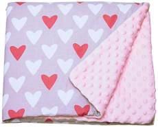 LULANDO 'Pink - Hearts' Krabbeldecke 80x100 cm