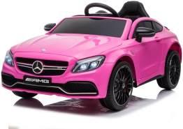"""Kinder Elektro Auto Mercedes Kinderauto C63 Amg Eva Leder Led Usb Mp3 Pink"""