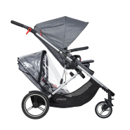 Phil & Teds Voyager Kinderwagen Double Kit Storm Regen Cover