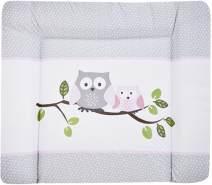 Zöllner Softy Wickelauflage kleine Eulen rosa 75 x 85 cm