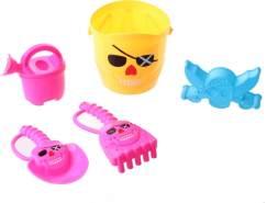 Happy People Strandspielzeug-Set Pirat 15 cm 5-teilig gelb