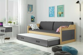 Stylefy Tore Funktionsbett 80x190 cm Kiefer Graphit
