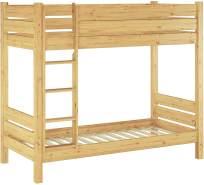 Erst-Holz Etagenbett Kiefer 80x190 cm, natur
