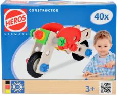 HEROS - Constructor - Motorrad, 40-teilig