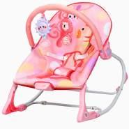 COSTWAY 3 in 1 Babywippe & Babyschaukel & Babyliegestuhl, mit Vibrationsmodi Rosa