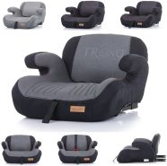 Chipolino Kindersitz Sitzerhöhung Trono Isofix Rückenlehne Gruppe 3 (22-36 kg) dunkelgrau