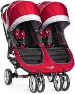 Baby Jogger BJ12436 City Mini Double Stroller (Crimson), rot