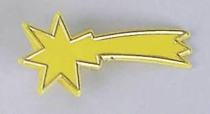 Komet gelb, klein, für Krippen, Hobby- und Modellbau