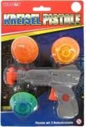 Spielzeug Pistole - Galaxy Guard -mit Flugkreisel und Flugscheibe - Besttoy
