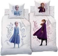 CTI Disney Frozen 2 Anna ELSA Mädchen Wende Bettwäsche Set Flowers