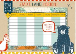 Spielblock Stadt, Land, Ferien! Reisezeit Kids