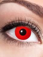 Zoelibat Kontaktlinse Red Devil dpt. -1,0 bis -4,0, Größe: -3,0 Dioptrien