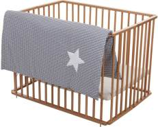Fillikid 'White Star Softy Gray' Laufgittereinlage 75/100x100