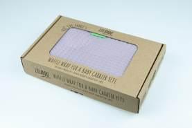 LULANDO Schlafsack/Einschlagdecke Yeti für die Babyschale - Rosa