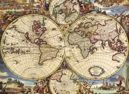 International Publishing 0801N16020B - Map of The World, Klassische Puzzle