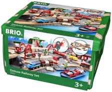 BRIO - Straßen & Schienen Bahn Set Deluxe 33052