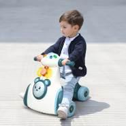 COSTWAY Rutschauto mit Musik, Tiersound und Licht, Rutschrad mit Trommel und Spielbrett, Laufrad bis 15kg belastbar, Lauflernrad für 19-36 Monate Jungen und Maedchen Blau