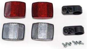Burley Unisex– Erwachsene Reflektor-Kit-3091997111 Reflektor-Kit, Rot, One Size
