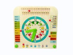 Lernuhr – Kinderuhr – Uhr lernen – Lernuhr mit Jahreszeiten – Holz-Lernuhr – Holzuhr - Holzspielzeug aus dem Erzgebirge – NEU