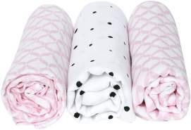 Motherhood 'Classics' 3-er Pack Einschlagtücher rosa
