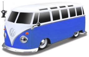 sockel RC Volkswagen Samba 1962 1:24 blau/weiß 2-teilig