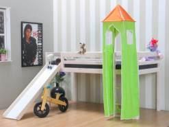 Turm für Hochbett und Rutschbett grün/orange