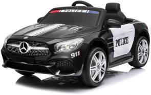 Lizenz Kinder Elektro Auto Mercedes-Benz SL500 Polizei 2x35W Bluetooth Schwarz