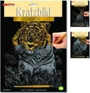 Kratzbild - Gold - Besttoy - 1 Stück, Zufallsauswahl