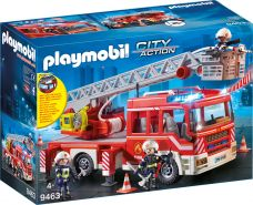 Playmobil City Action 9463 Feuerwehr-Leiterfahrzeug mit Licht und Sound, Ab 5 Jahren