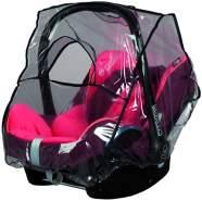 sunnybaby 13224- Universal Regenverdeck, Regenschutz für Babyschale, Baby-Autositz (z.B. Maxi Cosi, Cybex, Kiddy uva.)| Kontaktfenster | abdeckbare Trageöffnung | glasklar | Qualität: MADE in GERMANY