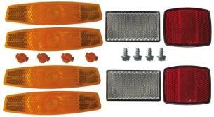 Croozer Unisex– Erwachsene Reflektorset-3092015305 Reflektorset, Orange/Rot, One Size