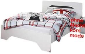 Jugendbett Jacob 100 * 200 cm weiß/grau metallic Gästezimmer Jugendzimmer Kinderzimmer Jugendliege Kinderbett Bettliege Bettgestell