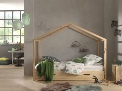 Vipack 'Dallas 3' Hausbett 90 x 200 cm, natur, inkl. Bettschublade