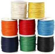 Baumwollband 8er-Set 8 Farben a 40 m, 1 mm