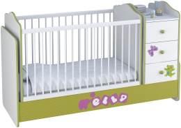 Polini Kids Kombi-Kinderbett Basic mit Kommode weiß grün Elly
