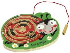 holzlabyrinth mit Magnetpen Marienkäfer