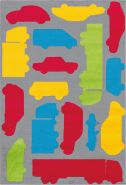 Lol Kids 4433 Multi / Rot 100x150 cm