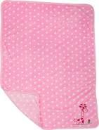 Small Foot 'Giraffe' Babydecke rosa 80x100 cm