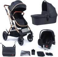 Pixini Kinderwagen Lania 4plusin1 Gold Edition mit Tragewanne und Babyschale