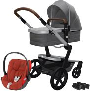 Joolz 'Day+' Kombikinderwagen Radiant Grey inkl. Cybex Cloud Z Plus Babyschale Autumn Gold