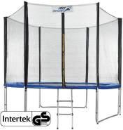 ArtSport 'Jampino' Trampolin, 305 cm Durchmesser, bis maximal 150 kg belastbar, inkl. Sicherheitsnetz, Leiter und Randabdeckung