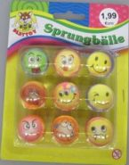 Sprungball-Set - Smiley ca. 27 mm - Besttoy