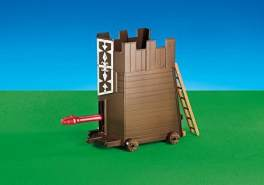 PLAYMOBIL - Rammbock mit Leiter Attack Carriage with Battering Ram 6374