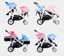 Geschwisterwagen / Zwillingswagen Pink / Blue