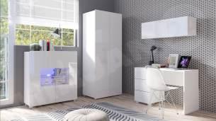 Mirjan24 'Calabrini XIV' Jugendzimmer-Set, Weiß / Weiß Hochglanz