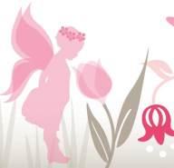Selbstklebende Bordüre 'Lovely Fairies' Rosa/Taupe
