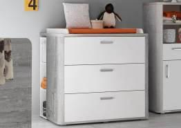 Frieda Wickelkommode 0471_03 vintage wood grey weiß matt 110 x 98 x 71