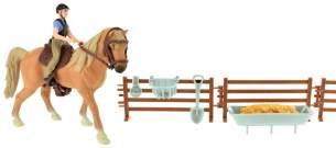 pferde-Spielset mit Reiter braun