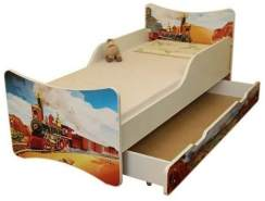 Best for Kids 'Zug' Kinderbett mit Schaummatratze 80x160 rot