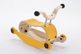 Wishbone Mini-Flip 3in1 Rutschfahrzeug Yellow
